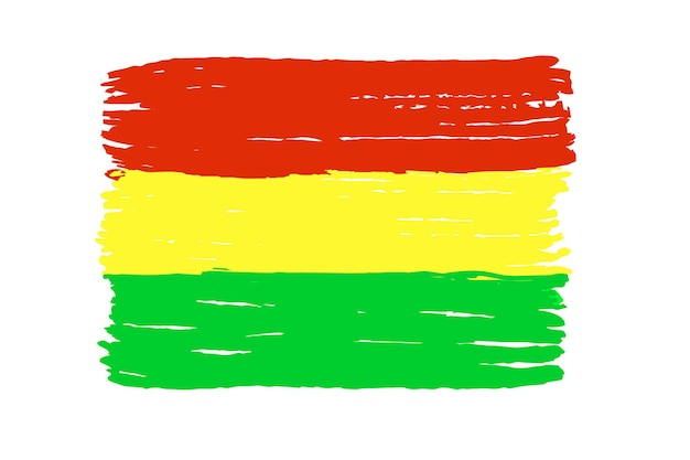 Bolivien-flagge ist auf weißem hintergrund isoliert