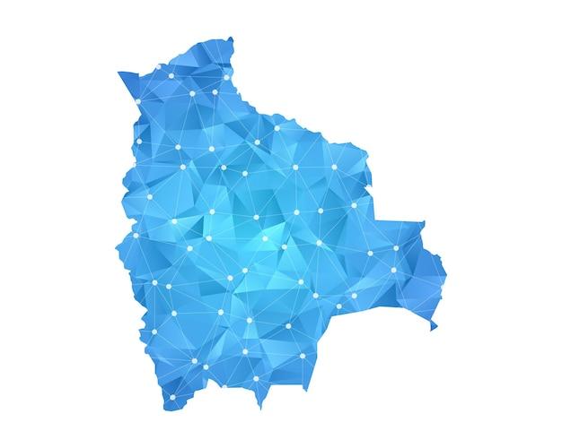Bolivien-karte punktet polygonale abstrakte geometrische.