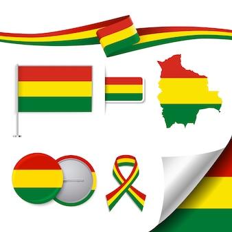 Bolivien repräsentative elemente sammlung