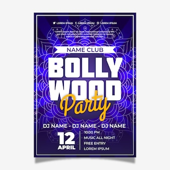 Bollywood indische partyplakateinladung
