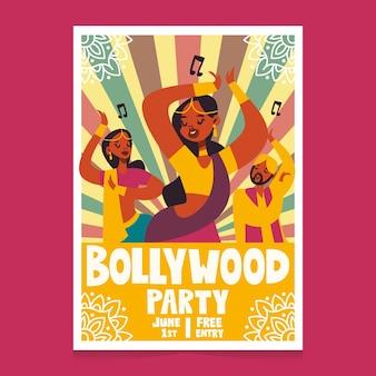 Bollywood indisches partyplakat mit frauen