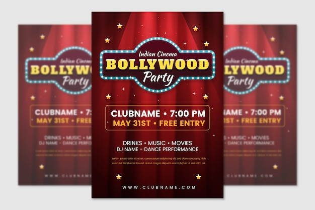 Bollywood party poster vorlage design