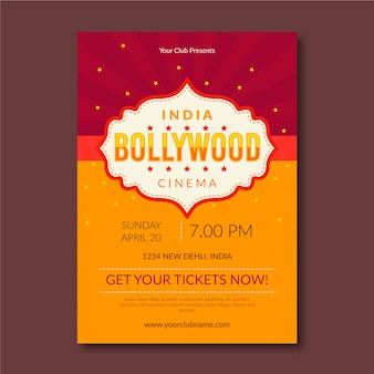 Bollywood party poster vorlage