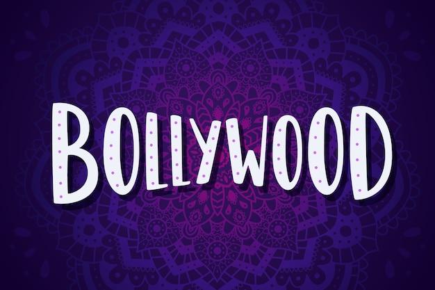 Bollywood-schriftzug mit mandala-tapete