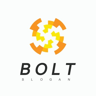 Bolt logo-designvorlage