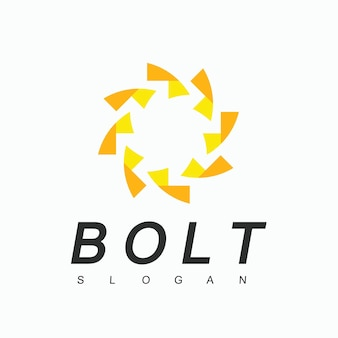 Bolzen-logo-design-vorlage, energiesymbol