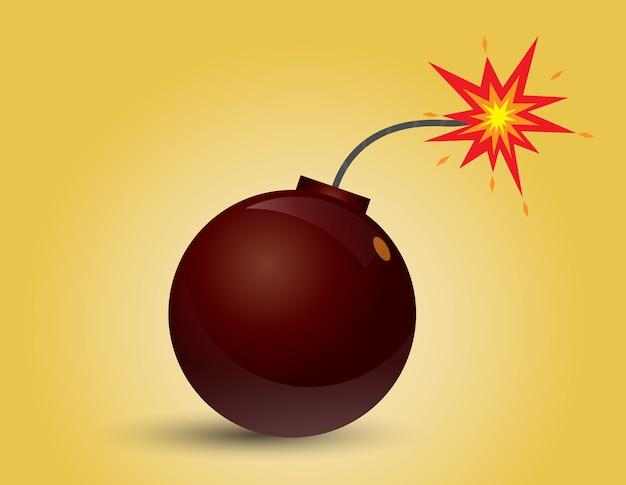 Bombe bereit zu explodieren.