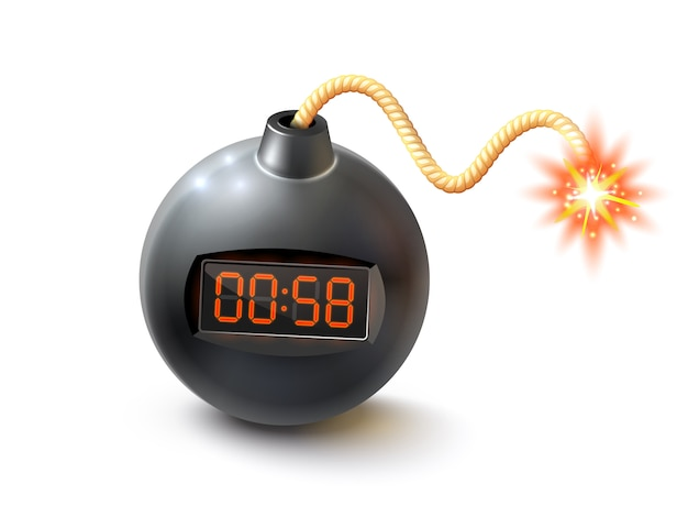 Bombe mit timer-illustration