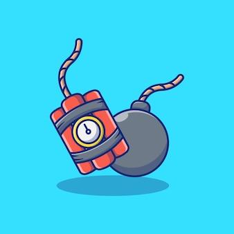 Bomben- und mörsergranaten-illustrationsdesign