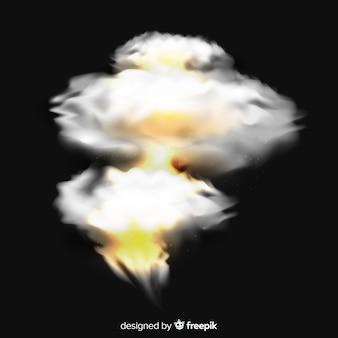 Bombenraucheffekt realistischen stil
