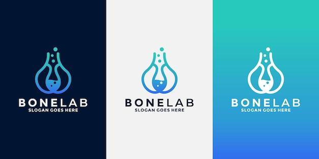 Bone lab logo-design für ihre geschäftliche gesundheit, medizin