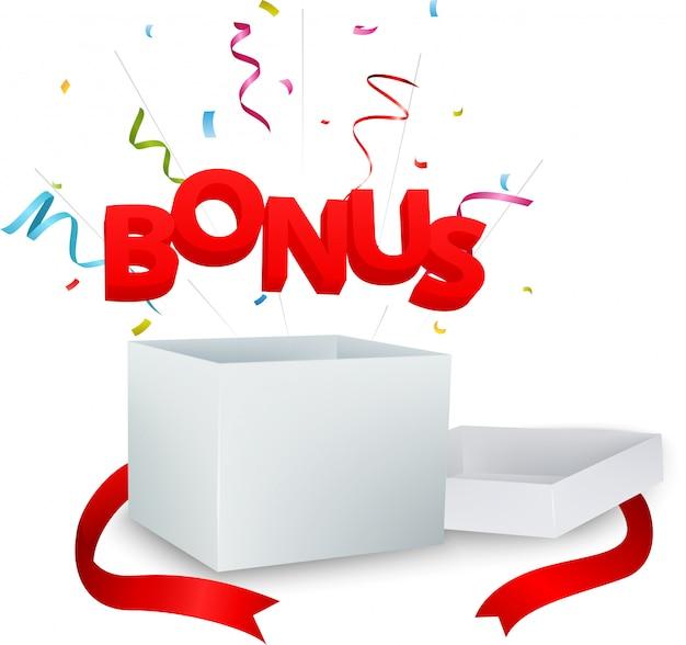 Bonus aus der box mit bunten konfetti