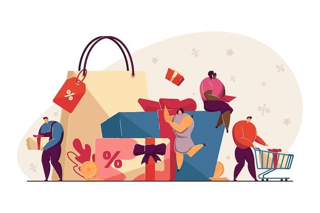 Bonus-, belohnungs- und geschenkprogramme für treue kunden Premium Vektoren