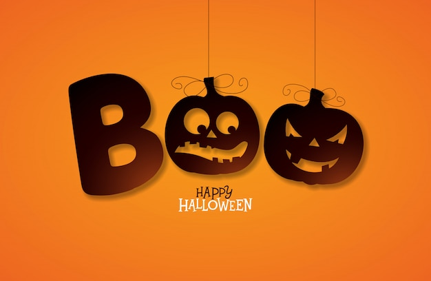 Boo, happy halloween design