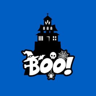 Boo typografie design vektor