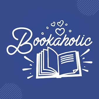 Bookaholicreading zitiert designvektor premium-vektor