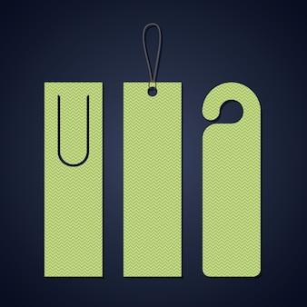 Bookmark-etikett-tag-symbol. reiseführer dekoration lesung und literatur thema. bunter entwurf. vektor