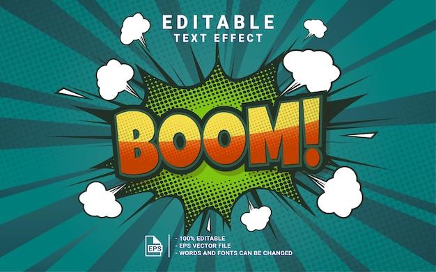 Boom-comic-stil textstil-effekt