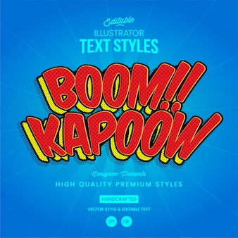 Boom-kapoow-textstil
