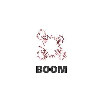 Boom-logo-grafik-design-konzept. bearbeitbares boom-element, kann als logo, symbol, vorlage in web und print verwendet werden
