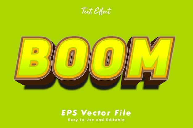 Boom-texteffekt bearbeitbar und einfach zu verwendender typografieeffekt
