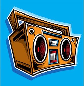 Boombox-karikaturvektor