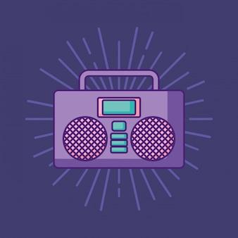 Boombox stereo-symbol