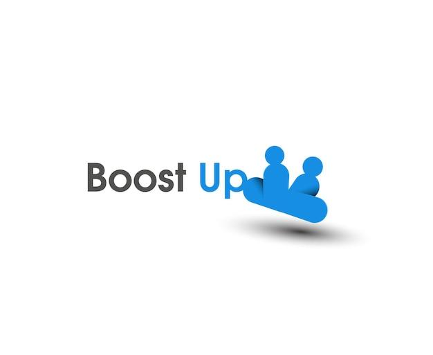 Boost-up-web-icons und vektor-logo