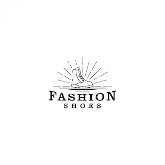 Boot-logo-schuhe, ein einfaches klassisches logo-modell für ein schuhgeschäft