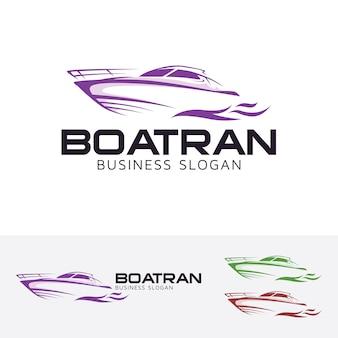 Boot trans, logo vorlage