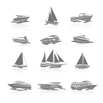 Boote icons set