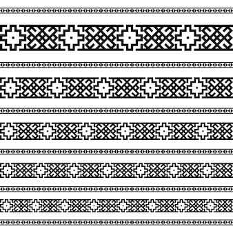 Border dekoration elemente muster
