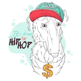Borzoi hunde rapper mit zubehör
