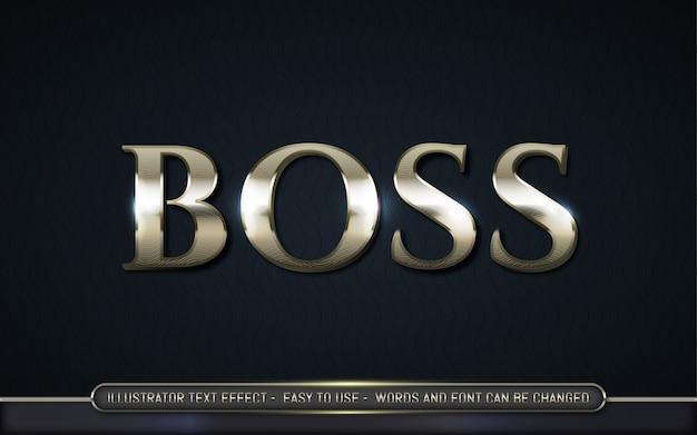 Boss - bearbeitbarer texteffektstil