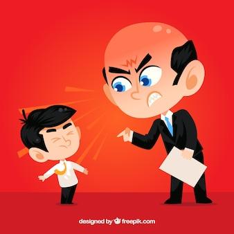 Boss streitet mit einem angestellten