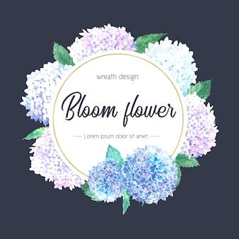Botanische blumen eleganz kranz