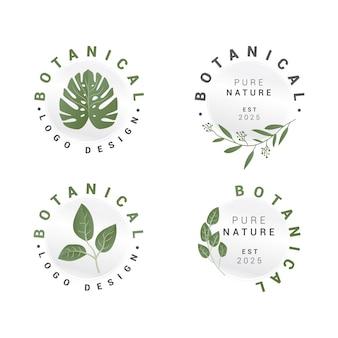 Botanische blumen-logo-sammlung
