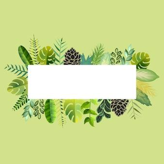 Botanische fram mit blumenkarte
