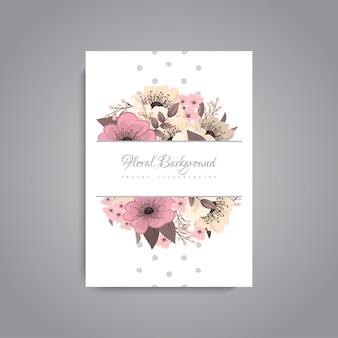 Botanische grußeinladungskartenschablonendesign