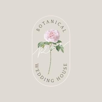 Botanische hochzeitskarte