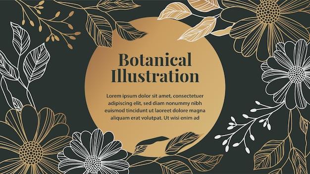 Botanische illustrationsvorlage