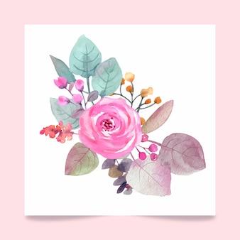 Botanische komposition für hochzeit oder grußkarte