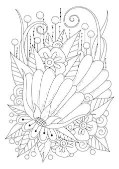 Botanische malvorlage illustration