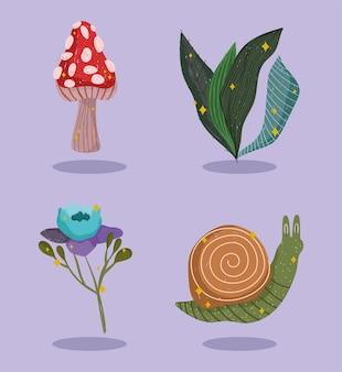 Botanische natursymbole