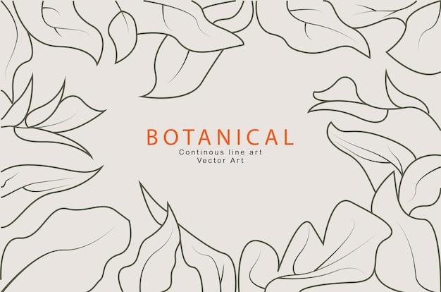 Botanische strichzeichnungen