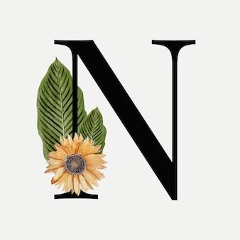 Botanischer buchstabe n.