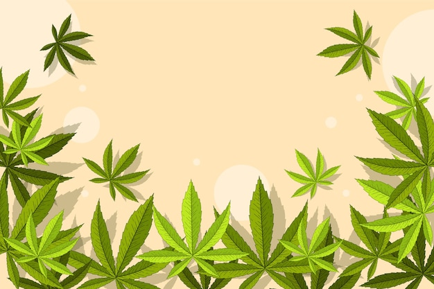 Botanischer cannabisblatthintergrund