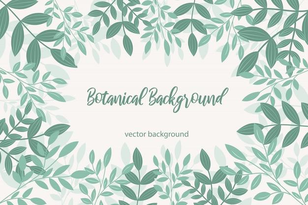 Botanischer hintergrund des vektors