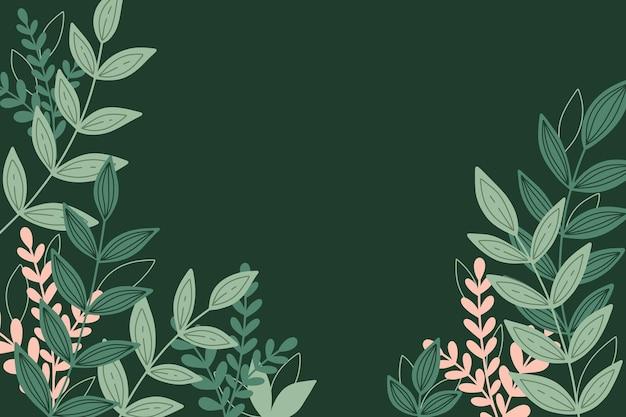 Botanischer hintergrund mit blättern