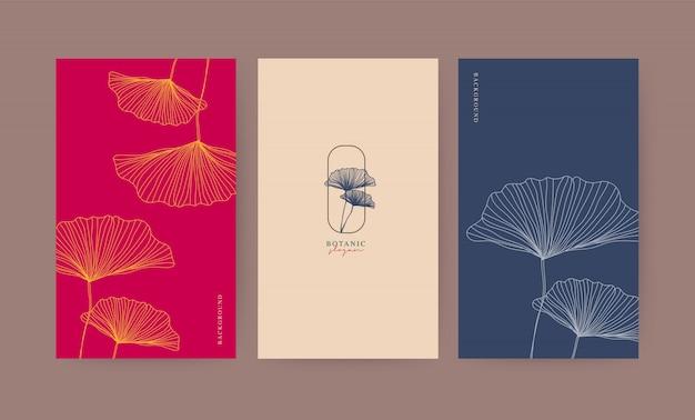 Botanischer illustrationssatz